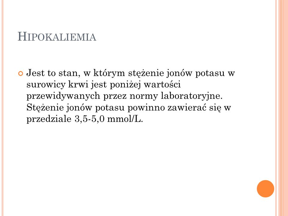Hipokaliemia