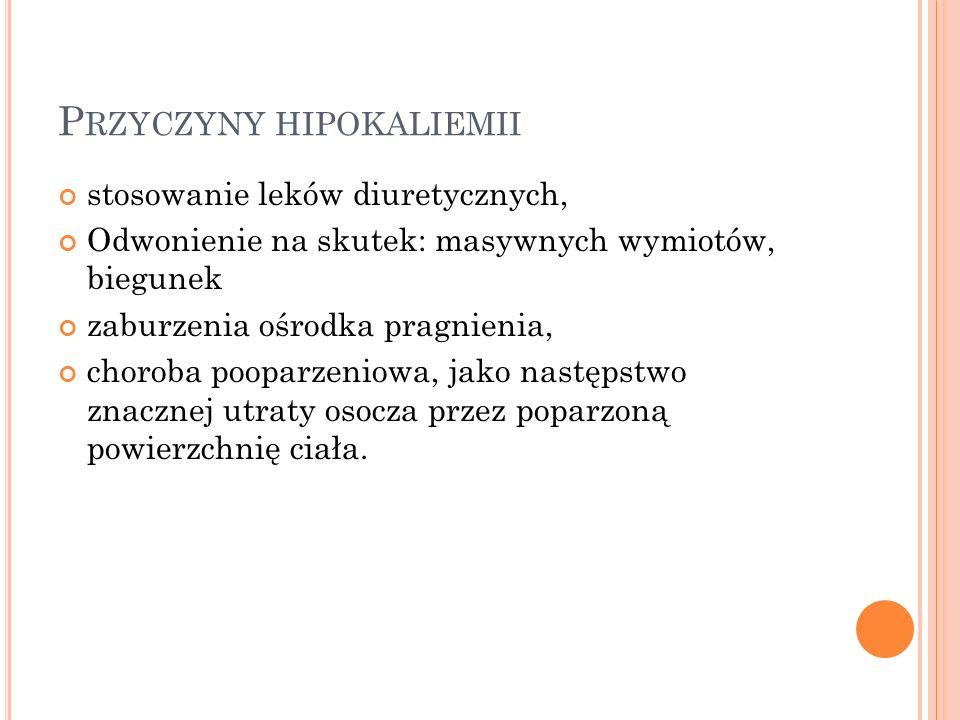 Przyczyny hipokaliemii