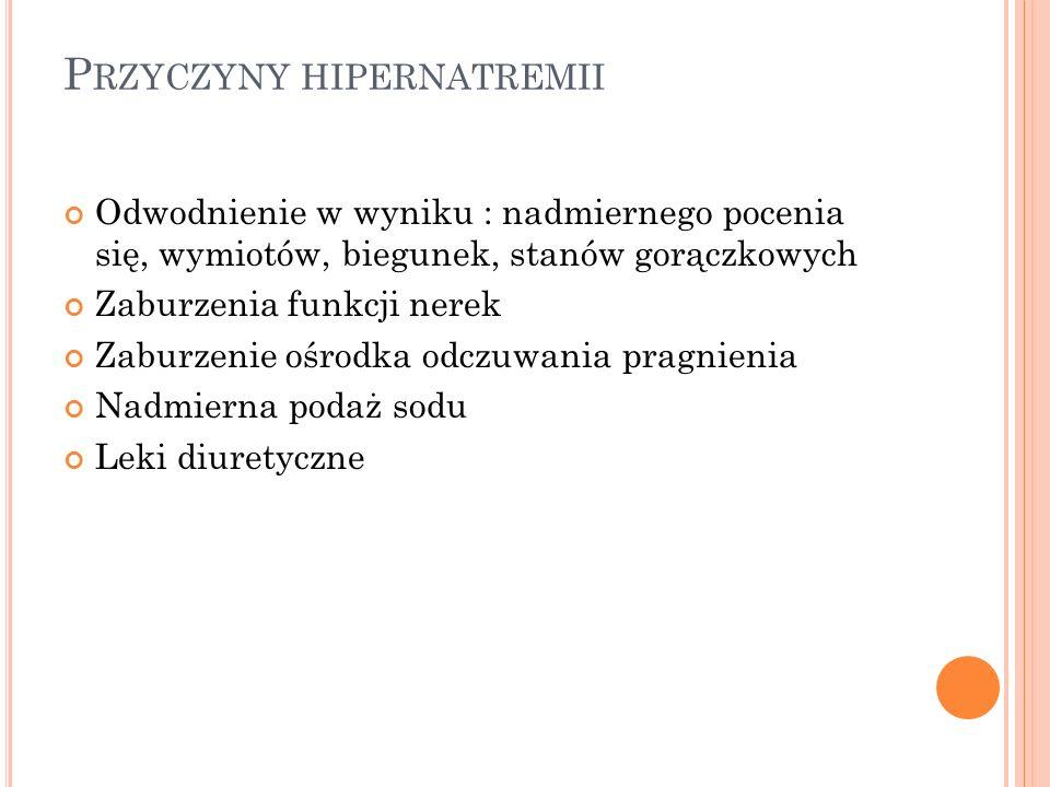 Przyczyny hipernatremii