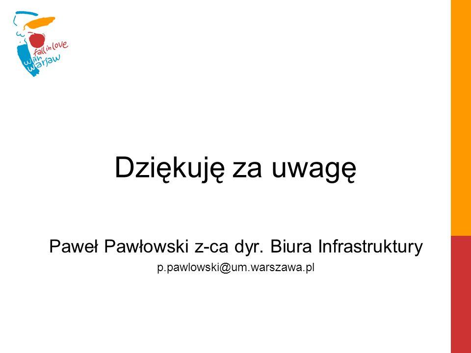 Paweł Pawłowski z-ca dyr. Biura Infrastruktury