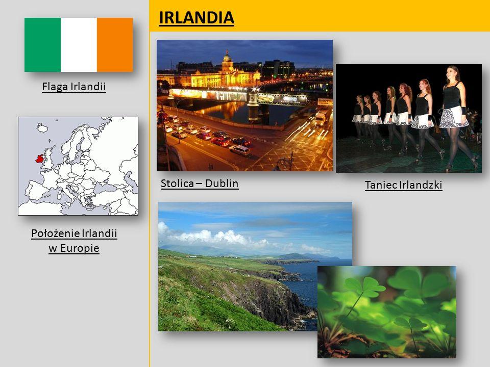 Położenie Irlandii w Europie