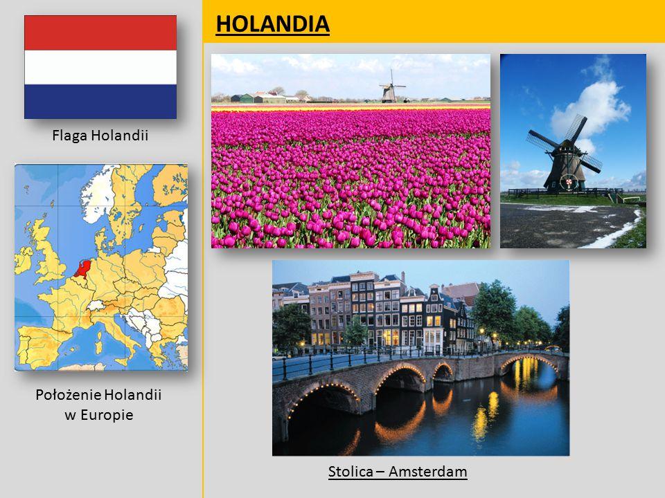 Położenie Holandii w Europie