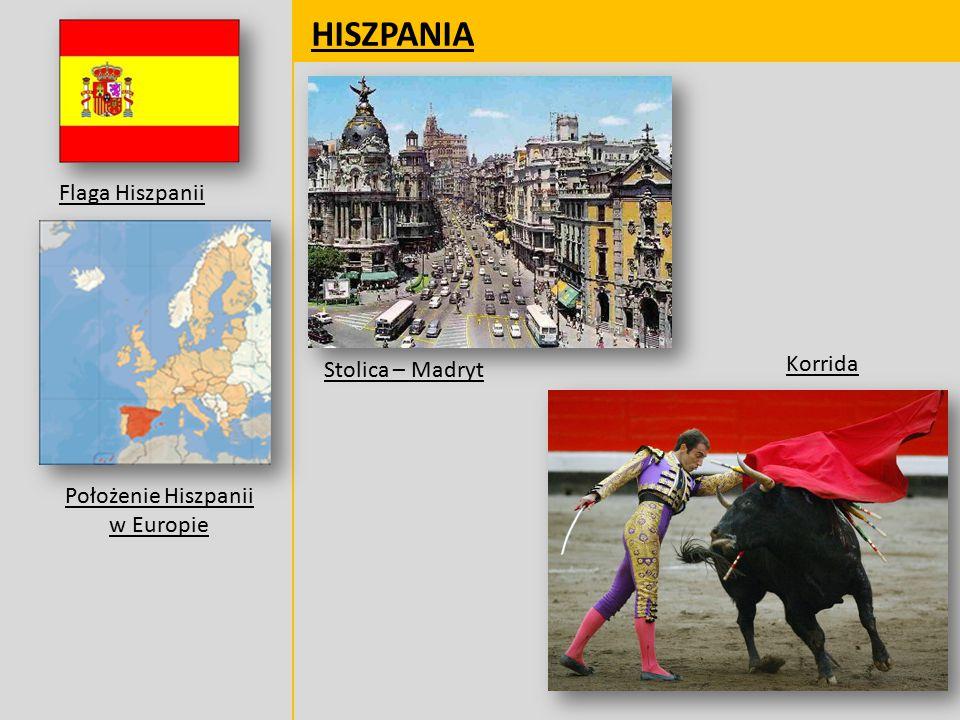 Położenie Hiszpanii w Europie