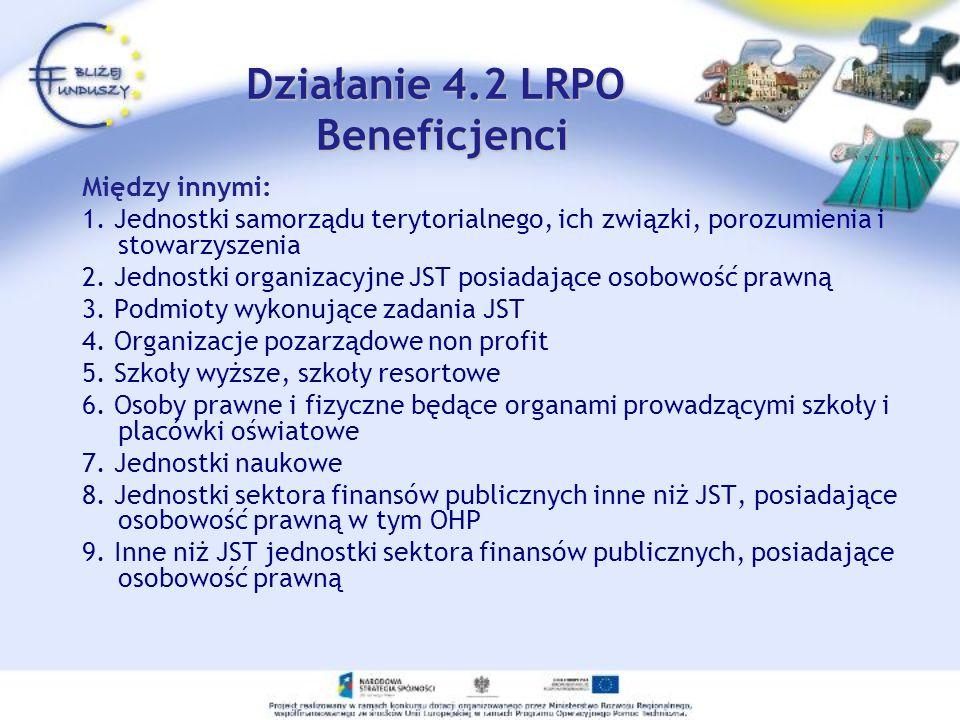 Działanie 4.2 LRPO Beneficjenci