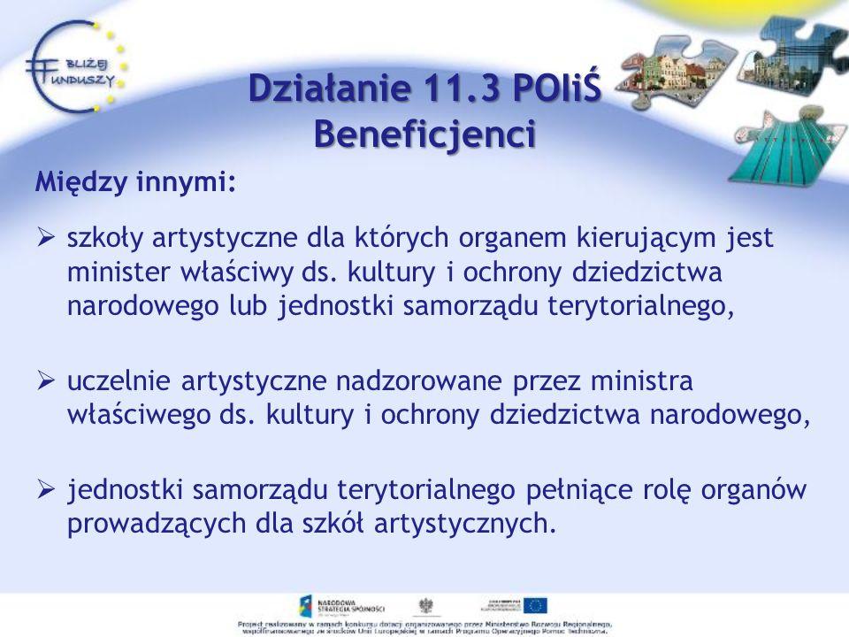 Działanie 11.3 POIiŚ Beneficjenci