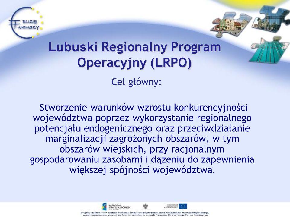 Lubuski Regionalny Program Operacyjny (LRPO)