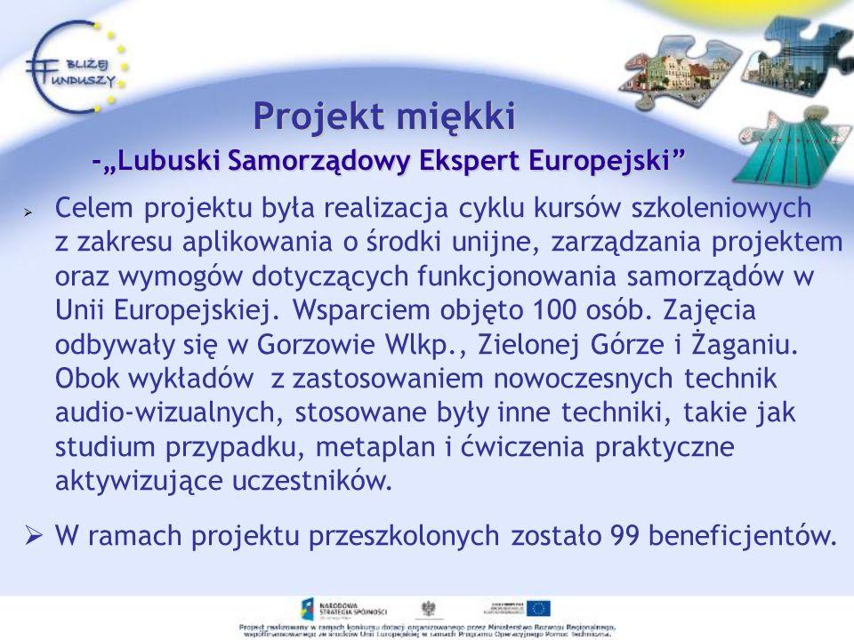 "Projekt miękki -""Lubuski Samorządowy Ekspert Europejski"