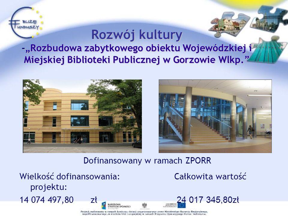 Dofinansowany w ramach ZPORR