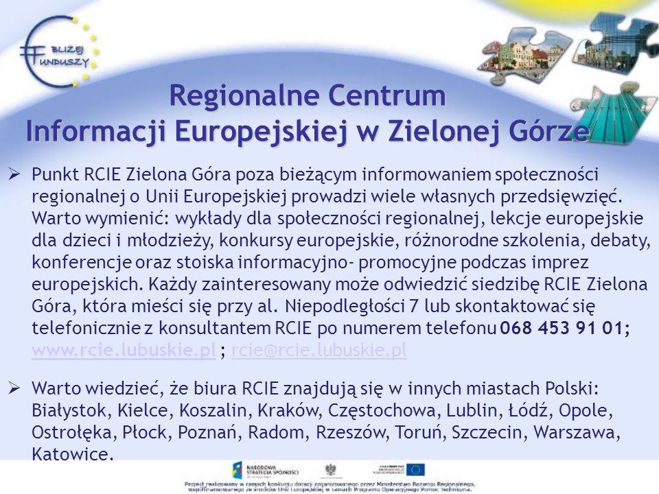 Regionalne Centrum Informacji Europejskiej w Zielonej Górze