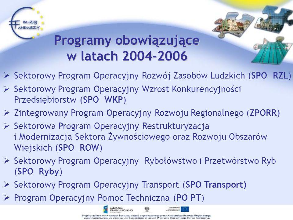 Programy obowiązujące w latach 2004-2006
