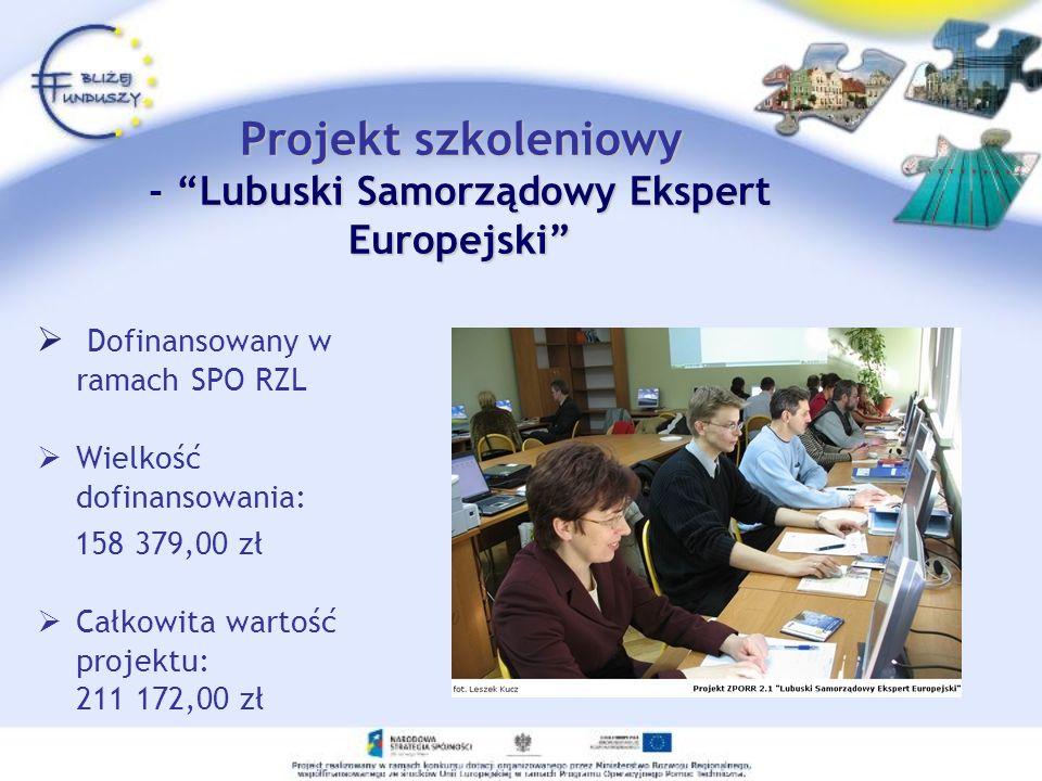 Projekt szkoleniowy - Lubuski Samorządowy Ekspert Europejski