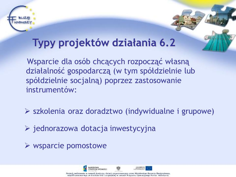 Typy projektów działania 6.2