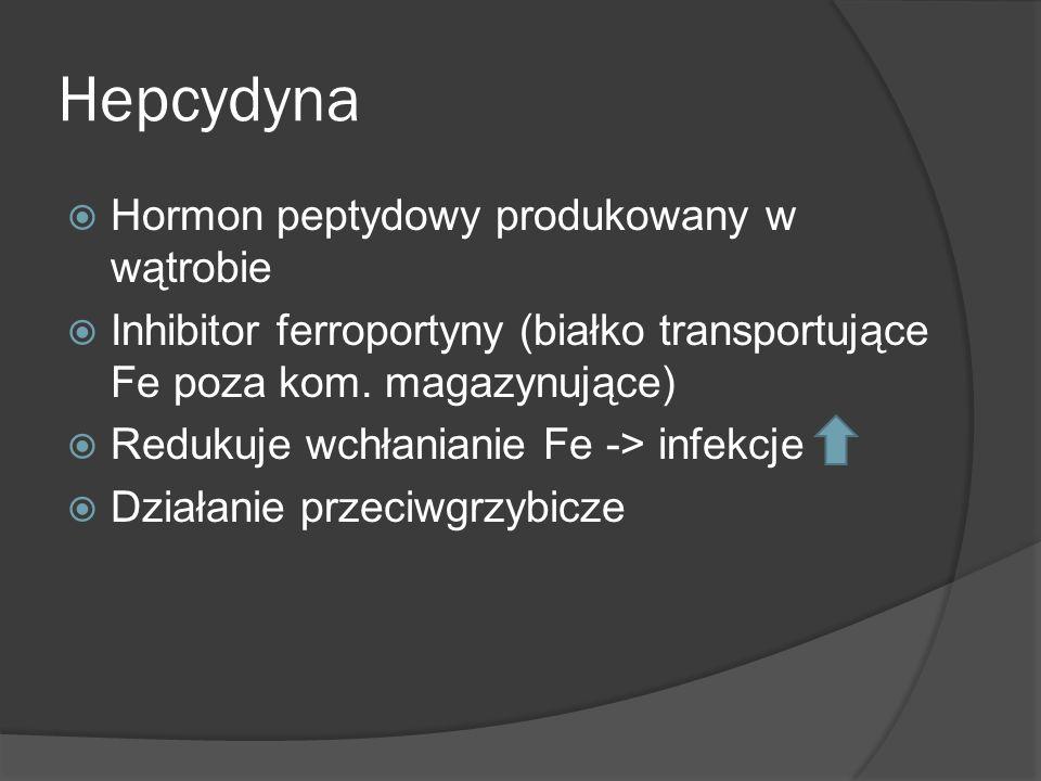 Hepcydyna Hormon peptydowy produkowany w wątrobie