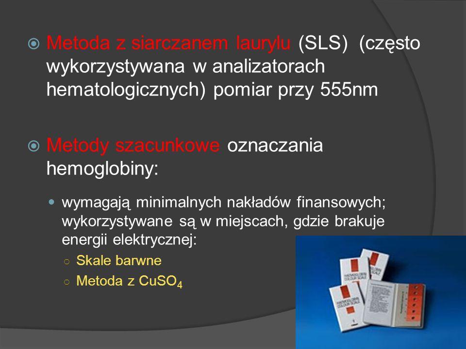 Metody szacunkowe oznaczania hemoglobiny: