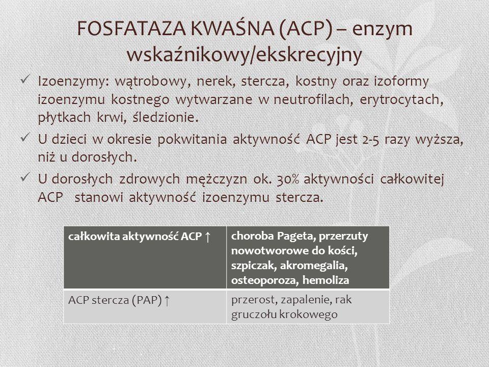 FOSFATAZA KWAŚNA (ACP) – enzym wskaźnikowy/ekskrecyjny