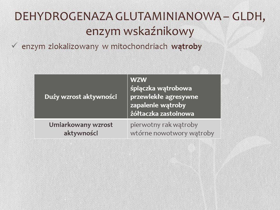DEHYDROGENAZA GLUTAMINIANOWA – GLDH, enzym wskaźnikowy