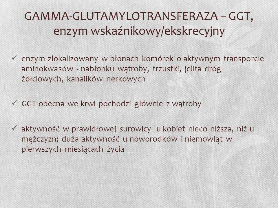 GAMMA-GLUTAMYLOTRANSFERAZA – GGT, enzym wskaźnikowy/ekskrecyjny