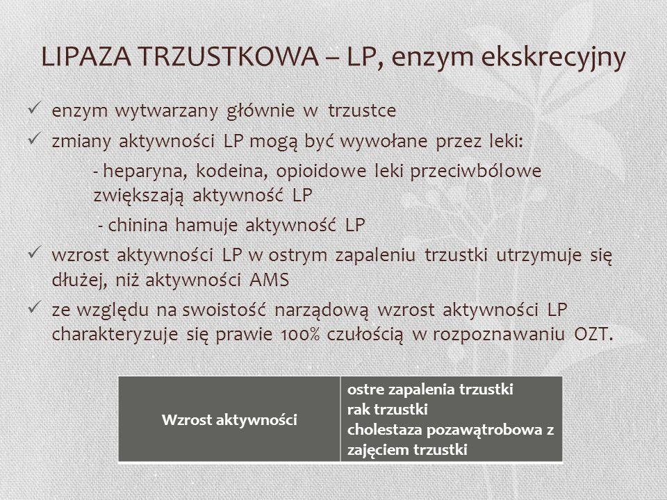 LIPAZA TRZUSTKOWA – LP, enzym ekskrecyjny