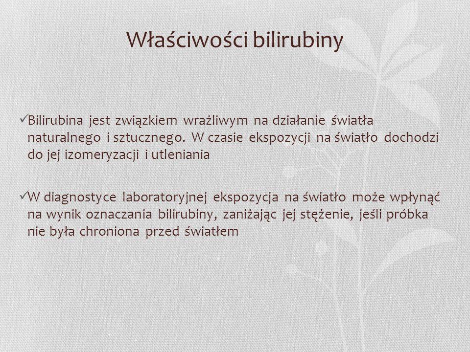 Właściwości bilirubiny