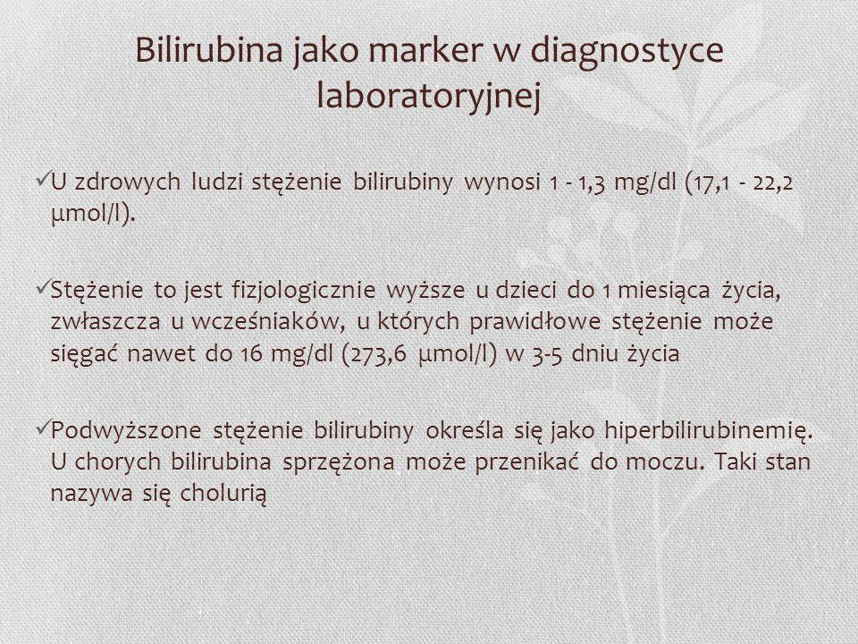 Bilirubina jako marker w diagnostyce laboratoryjnej