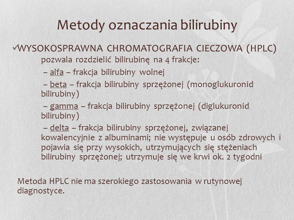 Metody oznaczania bilirubiny