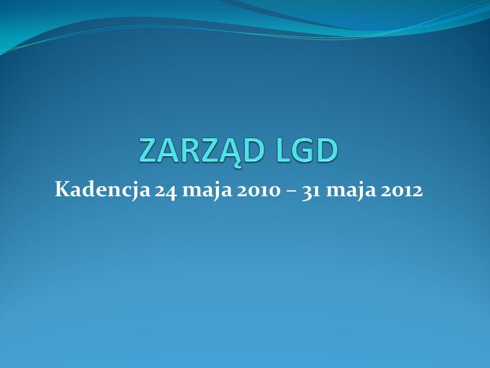 ZARZĄD LGD Kadencja 24 maja 2010 – 31 maja 2012