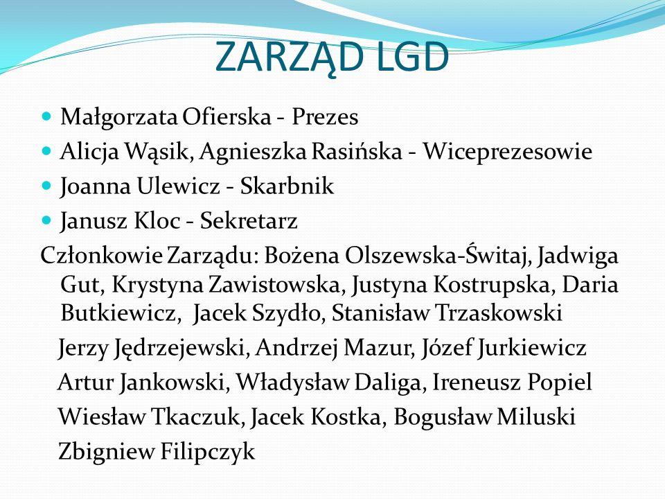 ZARZĄD LGD Małgorzata Ofierska - Prezes