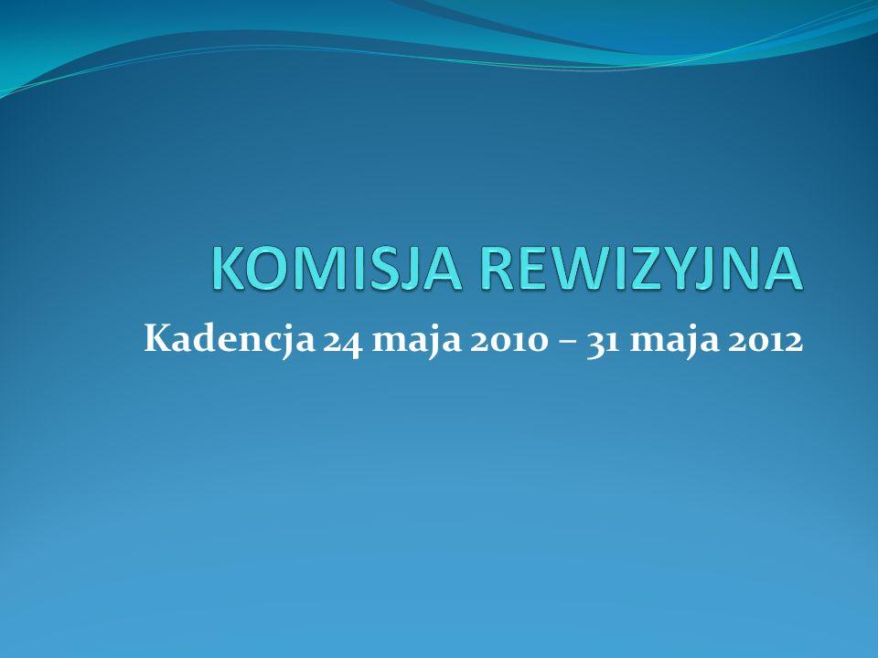 KOMISJA REWIZYJNA Kadencja 24 maja 2010 – 31 maja 2012