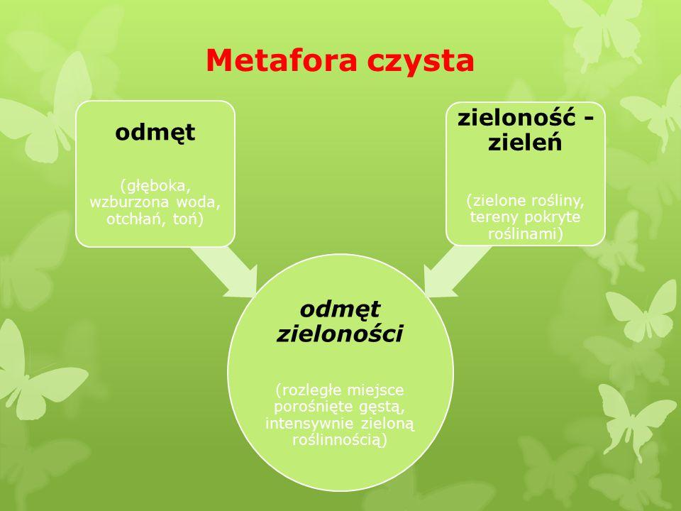Metafora czysta zieloność - zieleń odmęt odmęt zieloności