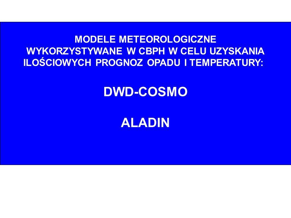 DWD-COSMO ALADIN MODELE METEOROLOGICZNE
