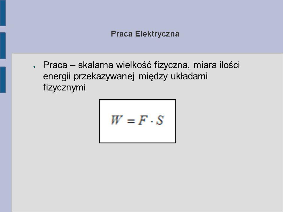 Praca Elektryczna Praca – skalarna wielkość fizyczna, miara ilości energii przekazywanej między układami fizycznymi.