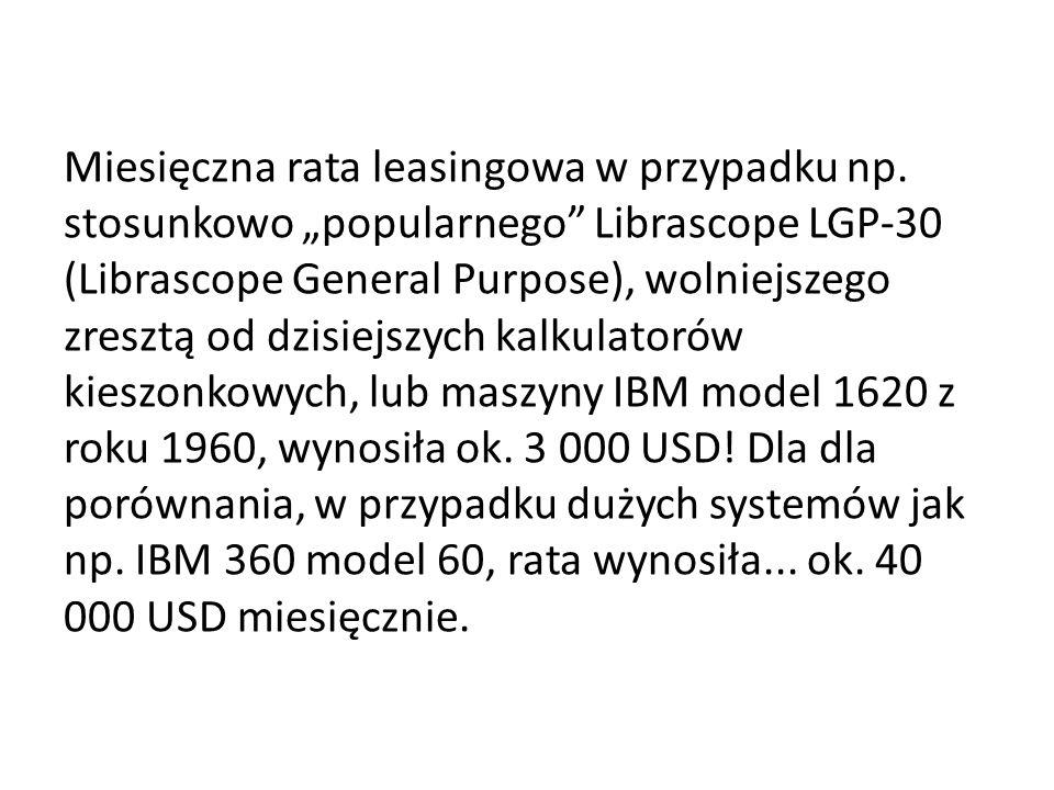Miesięczna rata leasingowa w przypadku np