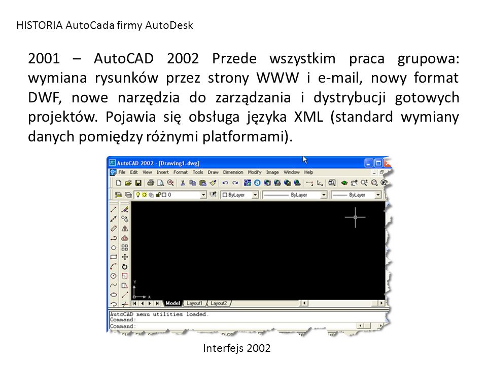 HISTORIA AutoCada firmy AutoDesk