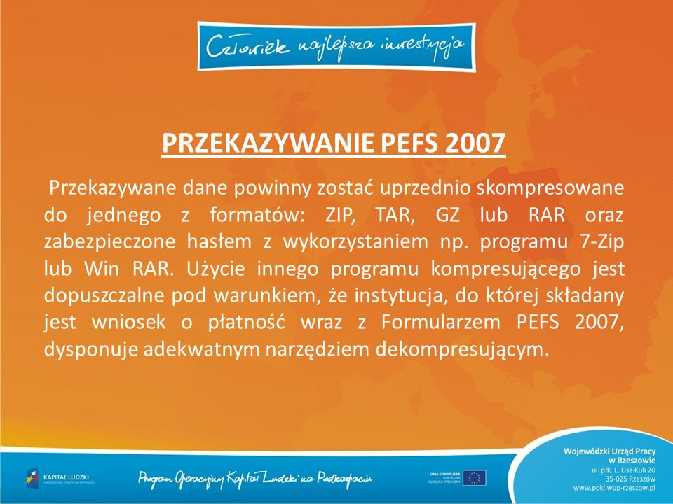 PRZEKAZYWANIE PEFS 2007