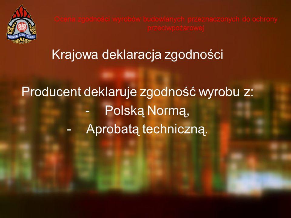 Krajowa deklaracja zgodności Producent deklaruje zgodność wyrobu z: