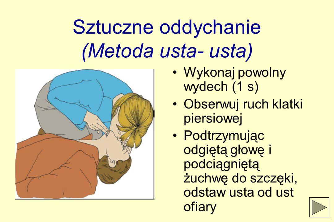 Sztuczne oddychanie (Metoda usta- usta)