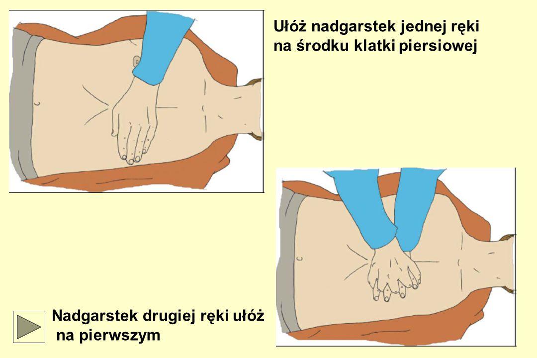Ułóż nadgarstek jednej ręki