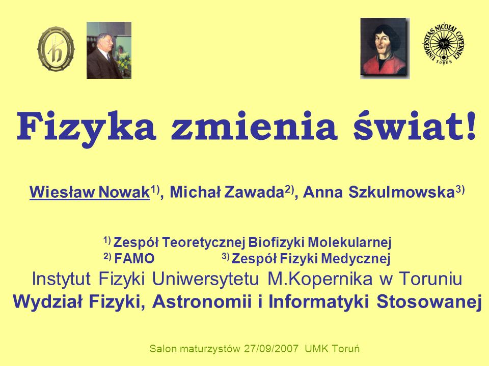 Salon maturzystów 27/09/2007 UMK Toruń