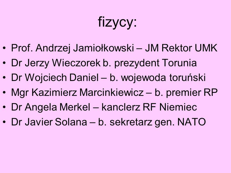 fizycy: Prof. Andrzej Jamiołkowski – JM Rektor UMK