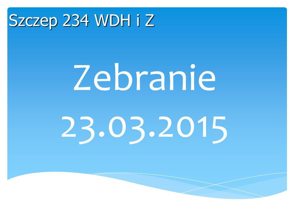 Szczep 234 WDH i Z Zebranie 23.03.2015