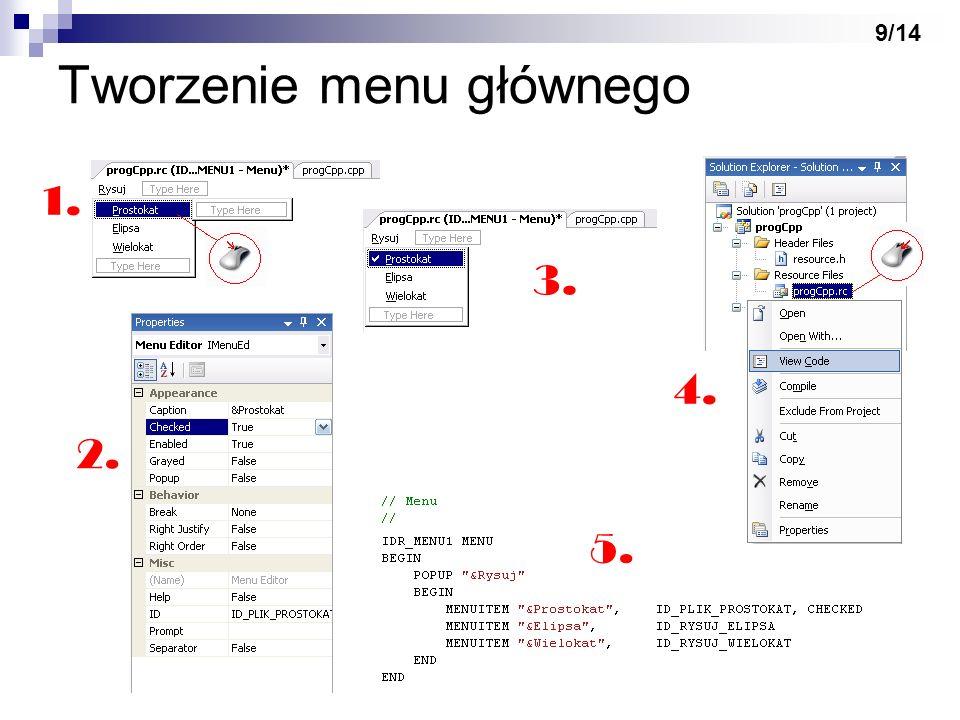 Tworzenie menu głównego