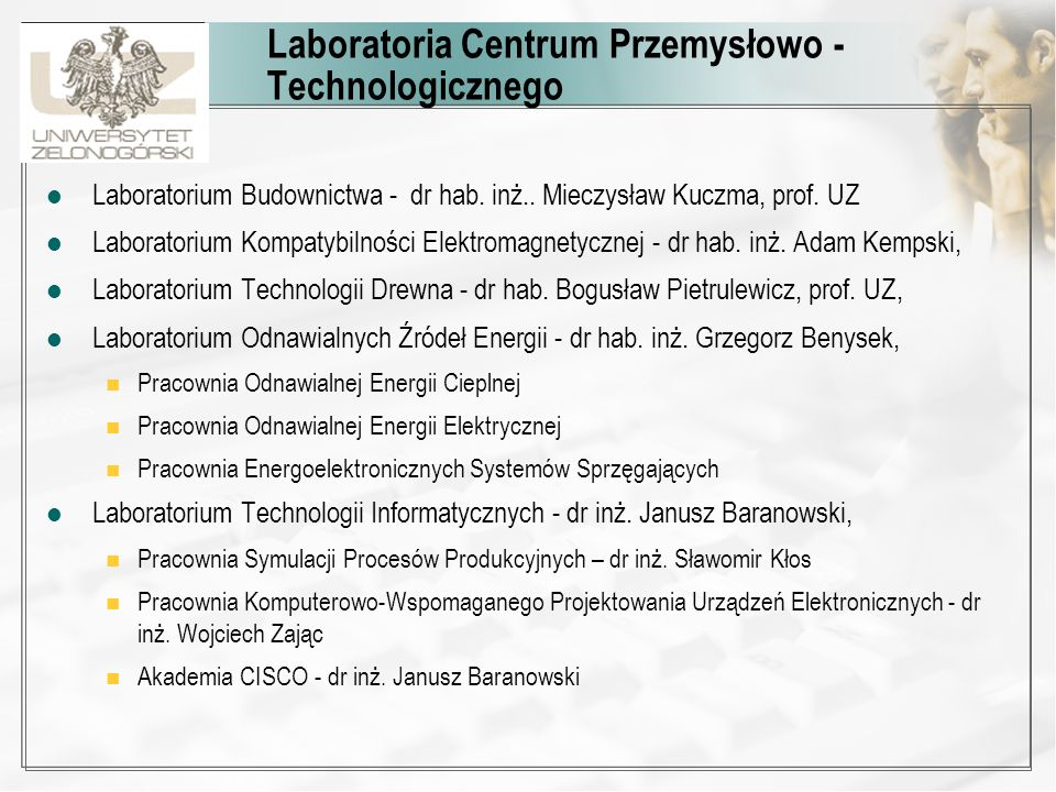 Laboratoria Centrum Przemysłowo -Technologicznego