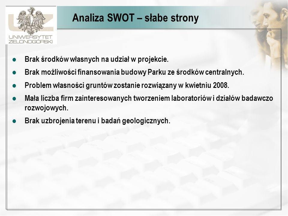 Analiza SWOT – słabe strony