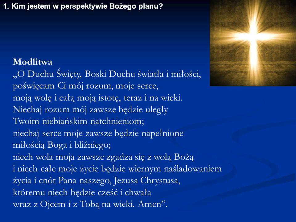 """""""O Duchu Święty, Boski Duchu światła i miłości,"""