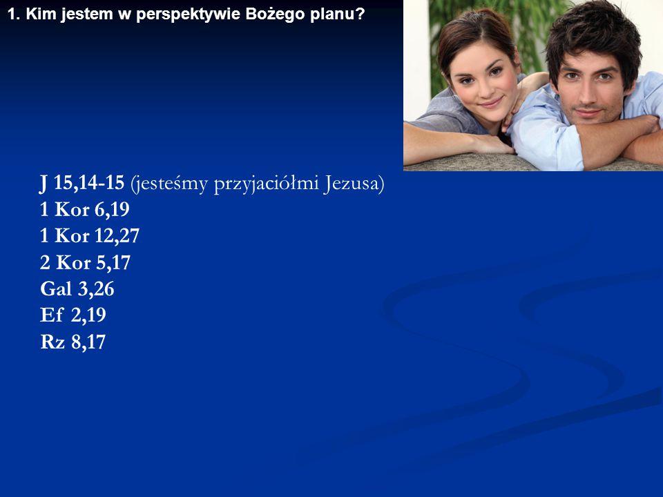 J 15,14-15 (jesteśmy przyjaciółmi Jezusa) 1 Kor 6,19 1 Kor 12,27