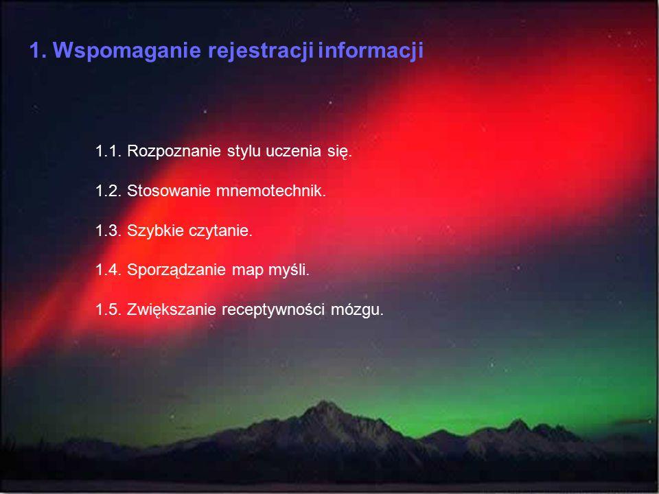 1. Wspomaganie rejestracji informacji