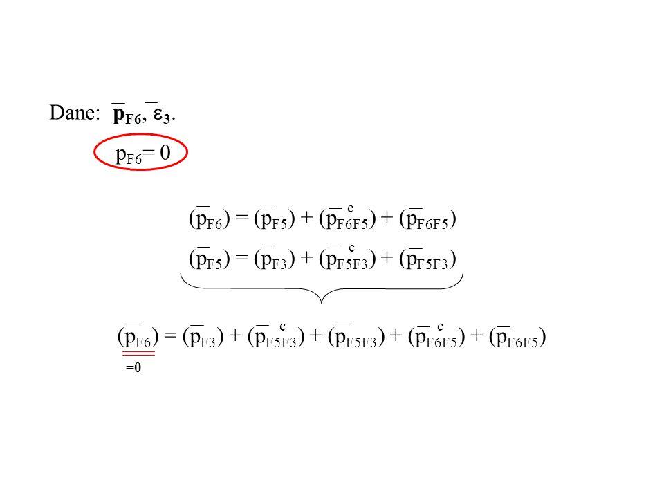 (pF6) = (pF5) + (pF6F5) + (pF6F5) (pF5) = (pF3) + (pF5F3) + (pF5F3) c