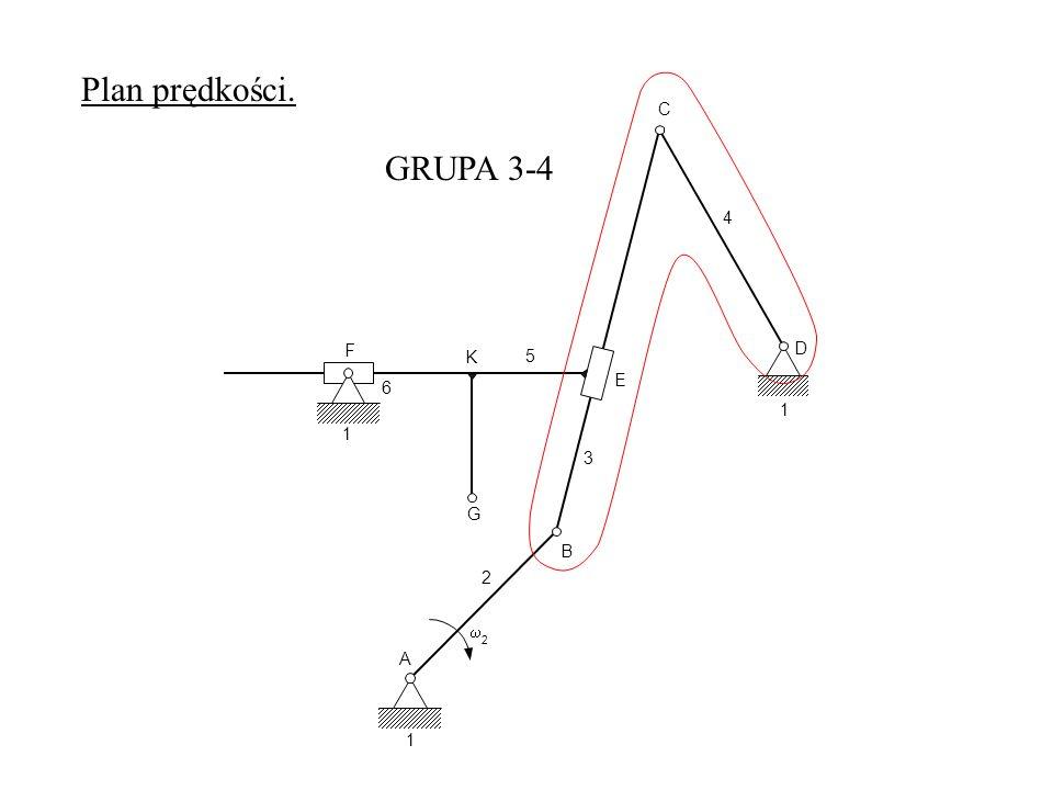 Plan prędkości. C GRUPA 3-4 4 F D K 5 E 6 1 1 3 G B 2 w 2 A 1