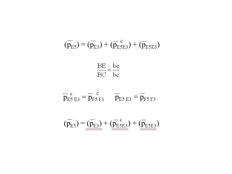 (pE5) = (pE3) + (pE5E3) + (pE5E3)