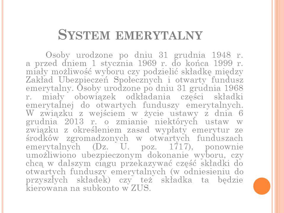 System emerytalny